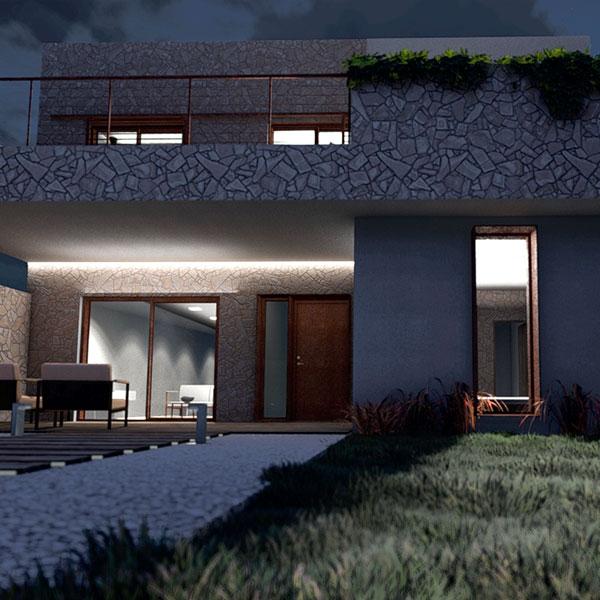Edificación residencial unifamiliar